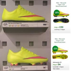 Bespaar geld met voetbalschoenen kopen