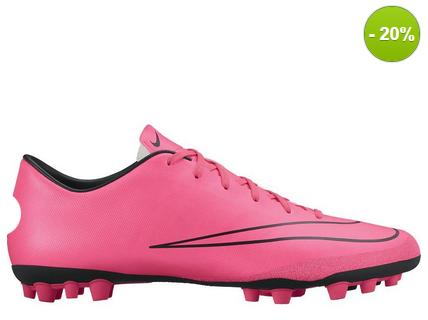 Roze nike voetbalschoenen zonder sokje