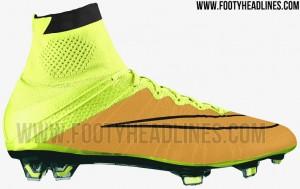Goud met Gele Nike voetbalschoenen Mercurial Superfly