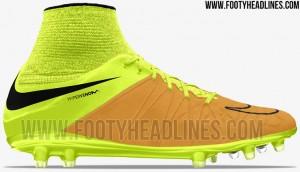 Nike Hypervenom goud met gele voetbalschoenen