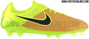 nike magista goud met gele voetbalschoenen