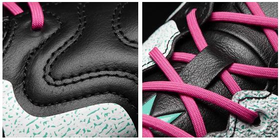 Adidas voetbalschoenen met roze veters